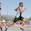 Henrique Chavez, of Mora, pulls ahead to win the 800m run during state track and field class AA championships, photographed on May 6, 2010.<br /> Natalie Guillén/The New Mexican