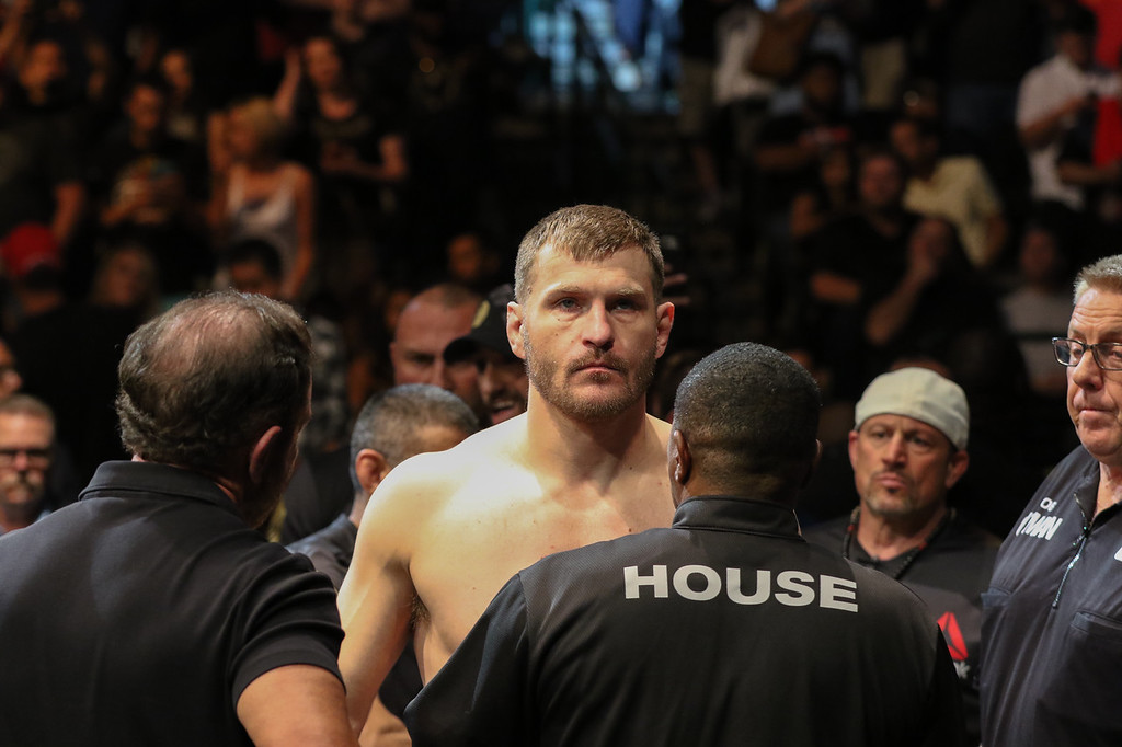 . Tim Phillis - The News-Herald Stipe Miocic before his fight against Francis Ngannou.