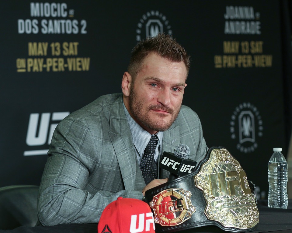 . Tim Phillis - The News-Herald Stipe Miocic after his fight against Junior dos Santos.
