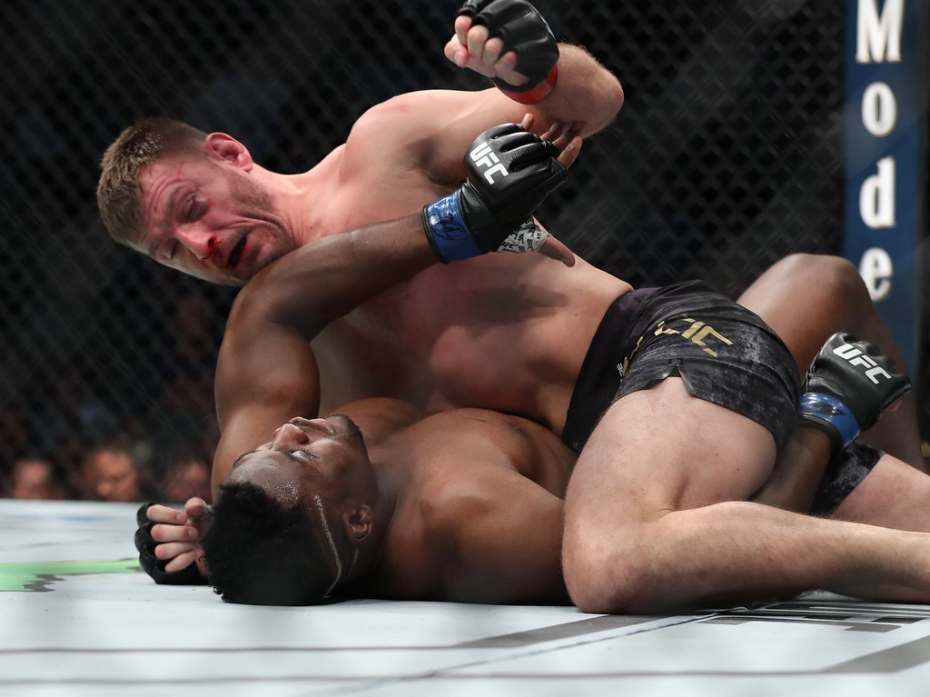 . Tim Phillis - The News-Herald Stipe Miocic during his fight against Francis Ngannou.