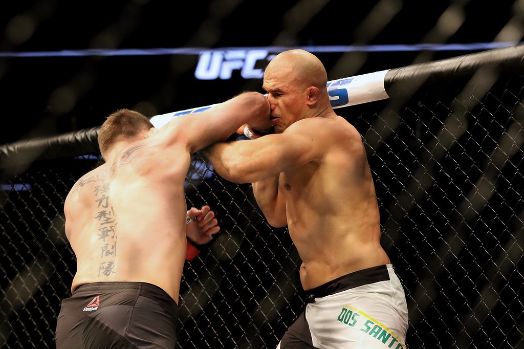 . Tim Phillis - The News-Herald Stipe Miocic during his fight against Junior dos Santos.