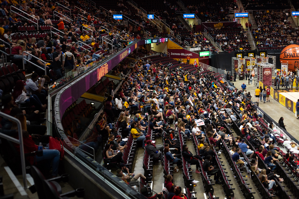 . Michael Johnson - The News-Herald A scene from the Cavs Watch party at the Quicken Loans Arena on May 15, 2018.