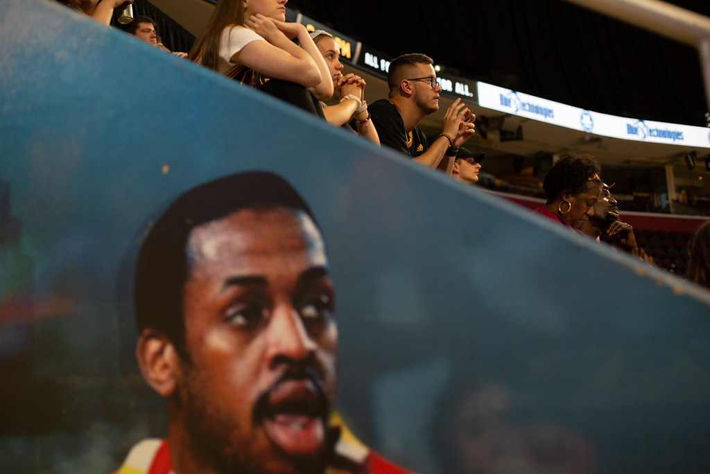 . Michael Johnson - The News-Herald Cavaliers fans attend the Eastern Conference Finals game 2 watch party on May 15, 2018.