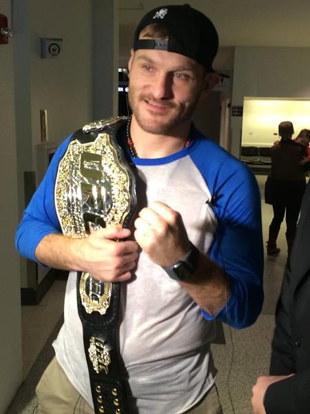 (Mark Podolski - News-Herald) Stipe Miocic, the UFC heavweight champion.