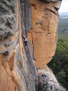 Cath on Dry Spell(20), Koalasquatsy Wall, Grampians