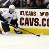 Michael Johnson - The News-Herald<br />  Alex Broadhurst of the Lake Erie Monsters chases down the puck during game 3 of the Calder Cup Finals on June 6, 2016.  The Monsters defeated the Bears 3-2 in overtime.