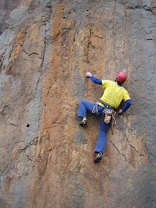 Adam on Poco Wall (23) Werribee Gourge