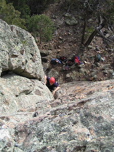 Cath on False Pretences(10) at Black Ians Rocks, Grampians