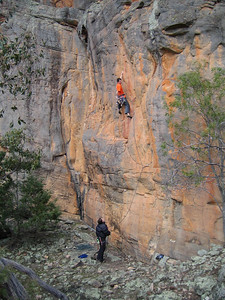 Adam on Hang On(20), Black Ians Rocks, Grampians
