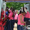 Paul DiCicco - The News-Herald<br /> The Willoughby Starzz teams wore pink for Breast Cancer this weekend in support of a recent diagnosis of one of their coach's mother.