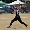 Paul DiCicco - The News-Herald<br /> Lady Landsharks (12u)  pitcher, Abby Schneider, winds up to deliver a pitch against the Willoughby Starzz at Daniels Park in Willoughby.  The Landsharks lost to the Starzz, 11-2.