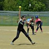 Paul DiCicco - The News-Herald<br />  Lady Landshark reliever, Lizzie Summers, winds up to deliver a pitch later in the game against the Starzz.  The Starzz went on to win 11-2.