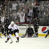 Michael Johnson - The News-Herald<br />  Zach Werenski of the Lake Erie Monsters celebrates winning game 4 of the Calder Cup against the Hershey Bears at the Quicken Loans Arena on June 11, 2016. The Lake Erie Monsters defeated the Hershey Bears 1-0 in overtime to win the Calder Cup.