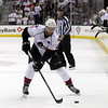 Michael Johnson - The News-Herald<br /> Lake Erie Monsters' Dillon Heatherington handles the puck during the 3rd period of game 4 of the Calder Cup Finals at the Quicken Loans Arena on June 11, 2016. The Lake Erie Monsters defeated the Hershey Bears 1-0 in overtime to win the Calder Cup.