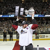 Michael Johnson - The News-Herald<br />  Lake Erie Monsters' Ryan Craig hoists the Calder Cup after defeating the Hershey bears 4 games to none in The Calder Cup Finals. The Monsters defeated the Bears 1-0 in overtime at the Quicken Loans Arena on June 11, 2016.
