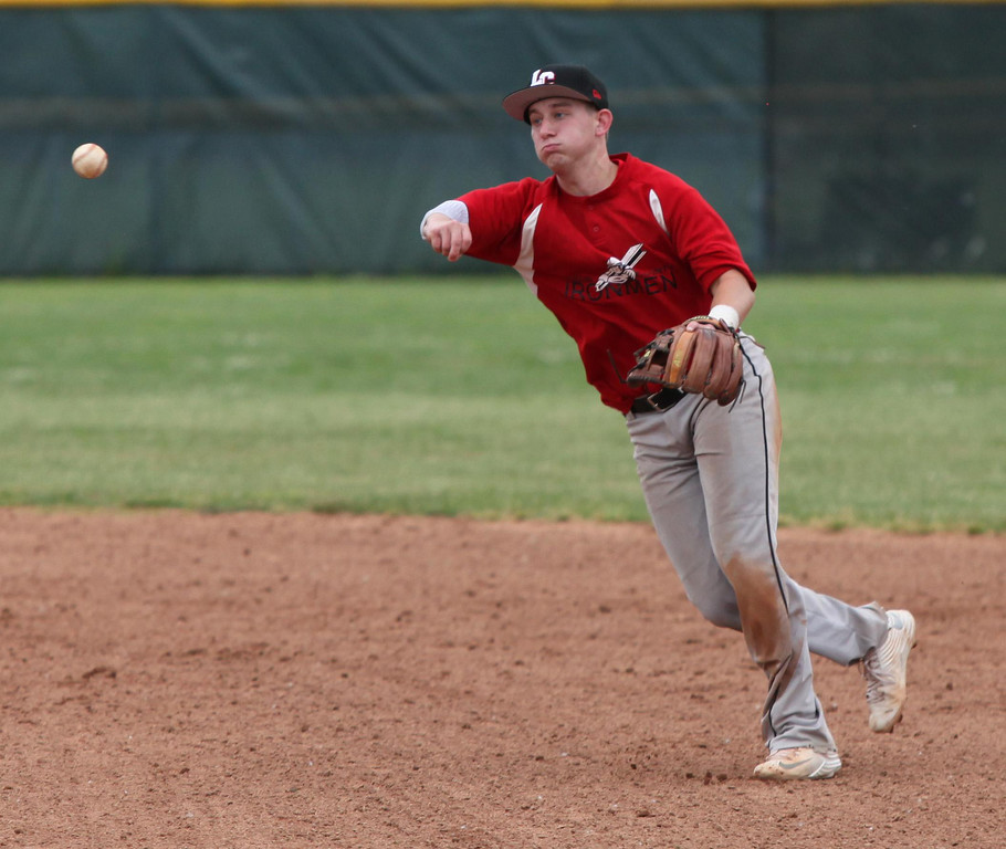 . Randy Meyers - The Morning Journal Ironmen second baseman Turner Mudrock fields a ground ball and throws to first for the out against Lake Erie on Monday