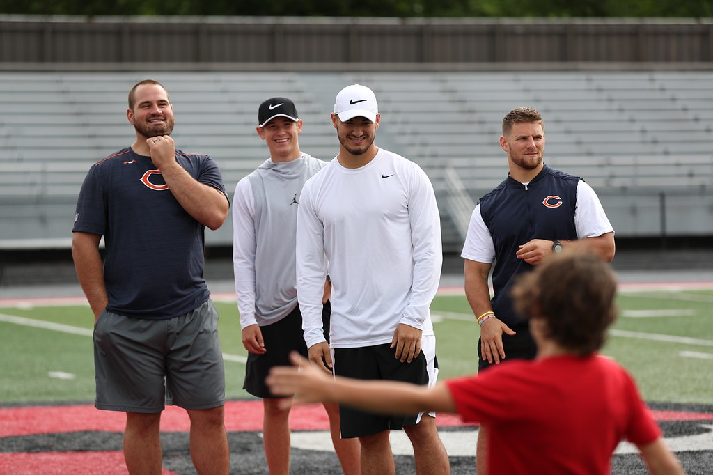 . Tim Phillis - The News-Herald Day 1 of the Mitchell Trubisky Mentor Football Youth Camp on June 11 at Jerome T. Osborne Stadium in Mentor.