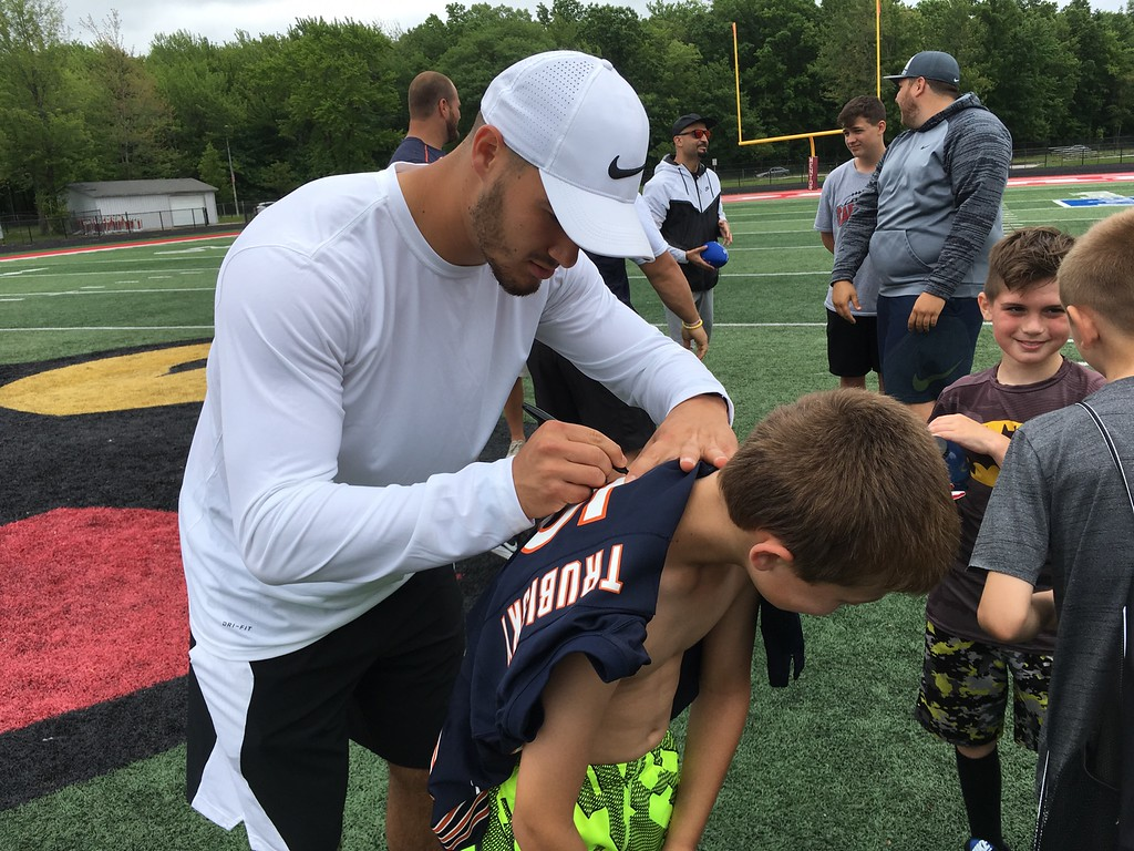 . Mark Podolski - The News-Herald Day 1 of the Mitchell Trubisky Mentor Youth Football Camp on June 11 at Jerome T. Osborne Stadium in Mentor.
