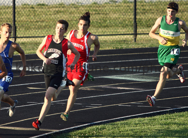 5-24-12<br /> Track Regional held at KHS<br /> Logansport's Dominic Patacsil running the 1600 meter.<br /> KT photo | Tim Bath