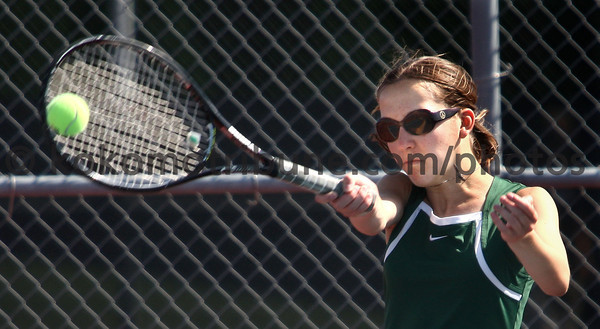 5-16-12<br /> Tennis Sectionals EHS vs Taylor, KHS vs Tipton<br /> EHS's Claire Holkenbrink playing #3 singles.<br /> KT photo | Tim Bath