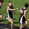 5-17-12<br /> Boys Track Sectionals at KHS<br /> Logansport's Chris Espinoza handing off to Salvador Orozco in the 4x800 relay.<br /> KT photo | Tim Bath