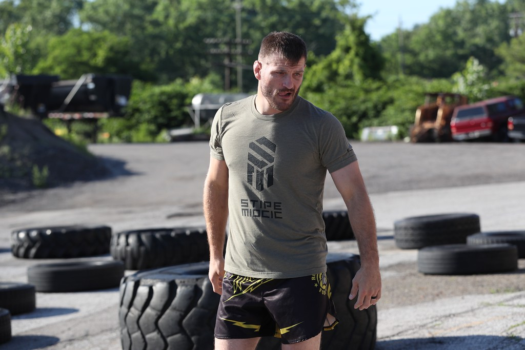 . Tim Phillis - The News-Herald Stipe Miocic during a workout on June 28 in advance of UFC 226 on July 7 in Las Vegas.