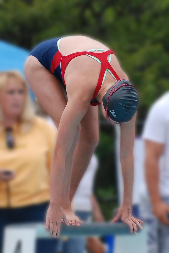 Lauren before the starting jump