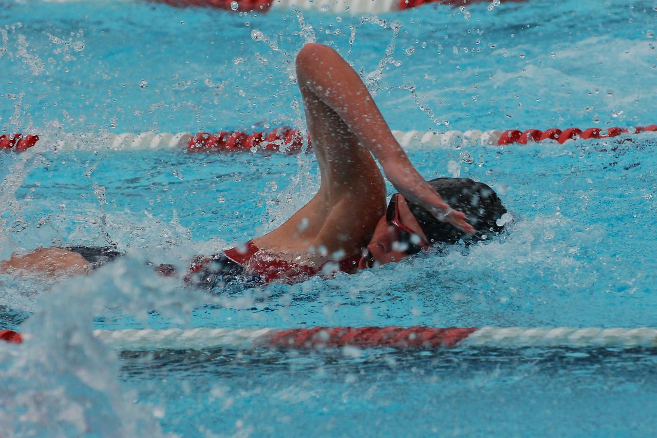 Lauren competing in the 50 meter freestyle