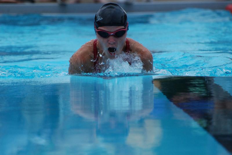 Lauren also competing in the breast stroke (50 meters)