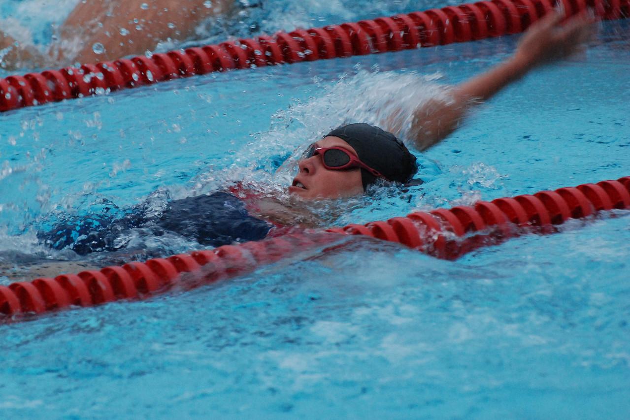 Lauren dominating in the backstroke