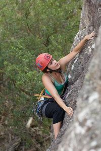 Cath attempting a new route at the catacombs