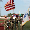 Randy Meyers - The Morning Journal<br /> Colors are presented by the local  United States Army during the national anthem prior to the Crushers and   Evansville game on Monday