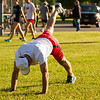 Barry Booher - The News-Herald<br /> John Lacava of Title Boxing and NE Running Club does his stretches.
