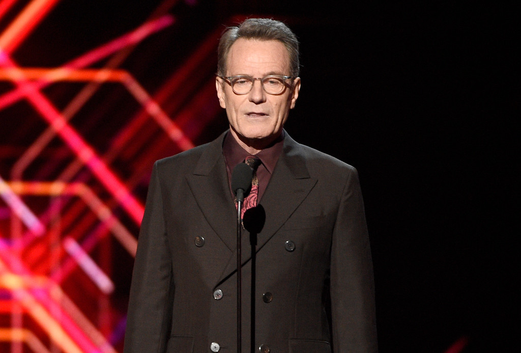 . Bryan Cranston presents the icon award at the ESPYS at the Microsoft Theater on Wednesday, July 12, 2017, in Los Angeles. (Photo by Chris Pizzello/Invision/AP)