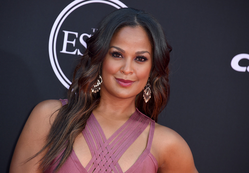 . Laila Ali arrives at the ESPYS at the Microsoft Theater on Wednesday, July 12, 2017, in Los Angeles. (Photo by Jordan Strauss/Invision/AP)