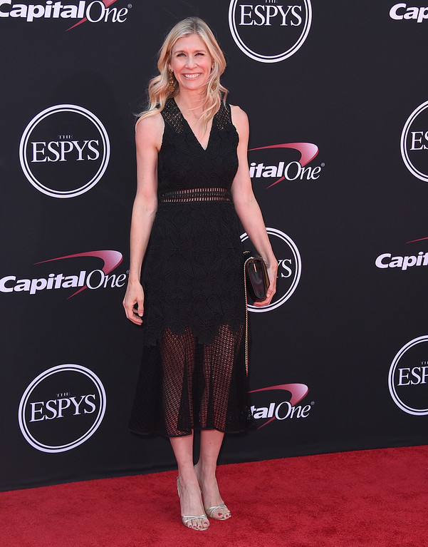 . Marie Tillman arrives at the ESPYS at the Microsoft Theater on Wednesday, July 12, 2017, in Los Angeles. (Photo by Jordan Strauss/Invision/AP)