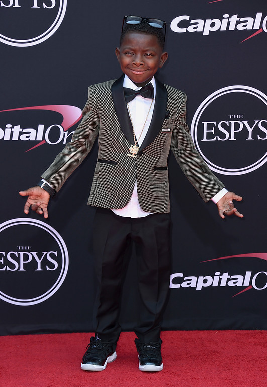. Jarrius Robertson arrives at the ESPYS at the Microsoft Theater on Wednesday, July 12, 2017, in Los Angeles. (Photo by Jordan Strauss/Invision/AP)