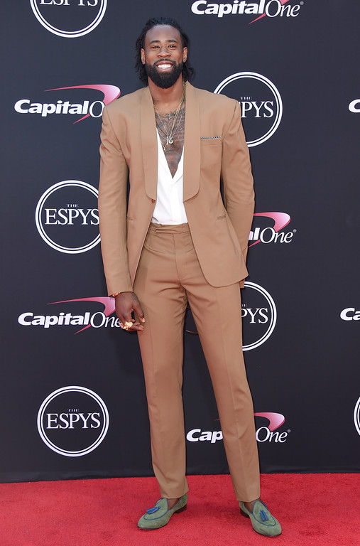 . NBA basketball player DeAndre Jordan, of the Los Angeles Clippers, arrives at the ESPYS at the Microsoft Theater on Wednesday, July 12, 2017, in Los Angeles. (Photo by Jordan Strauss/Invision/AP)