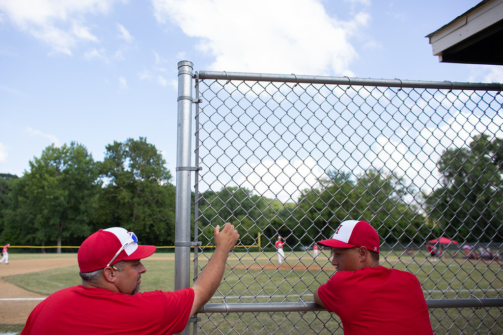 . Scenes from an Ohio State Junior Baseball League game between Hiland and Rock Hill at Kiwanis Recreation Park in Painesville, Ohio, on July 23, 2018.