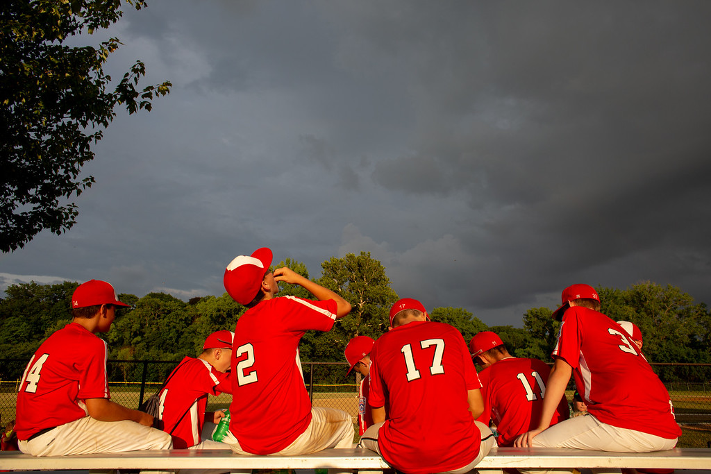 . Scenes from an Ohio State Junior Baseball League game between Loveland and Eglewood at Kiwanis Recreation Park in Painesville, Ohio, on July 23, 2018.