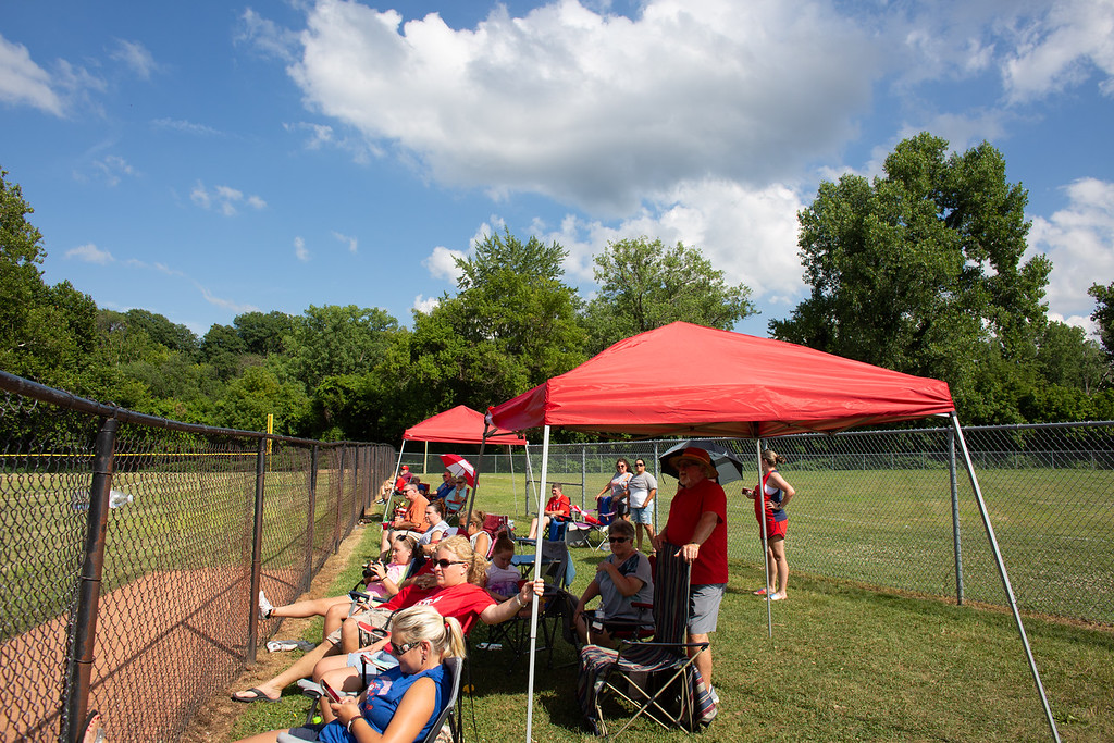 . Scenes from the Ohio State Junior Baseball Tournament between Hiland and Rock Hill at Kiwanis Recreation Park in Painesville, Ohio, on July 23, 2018.