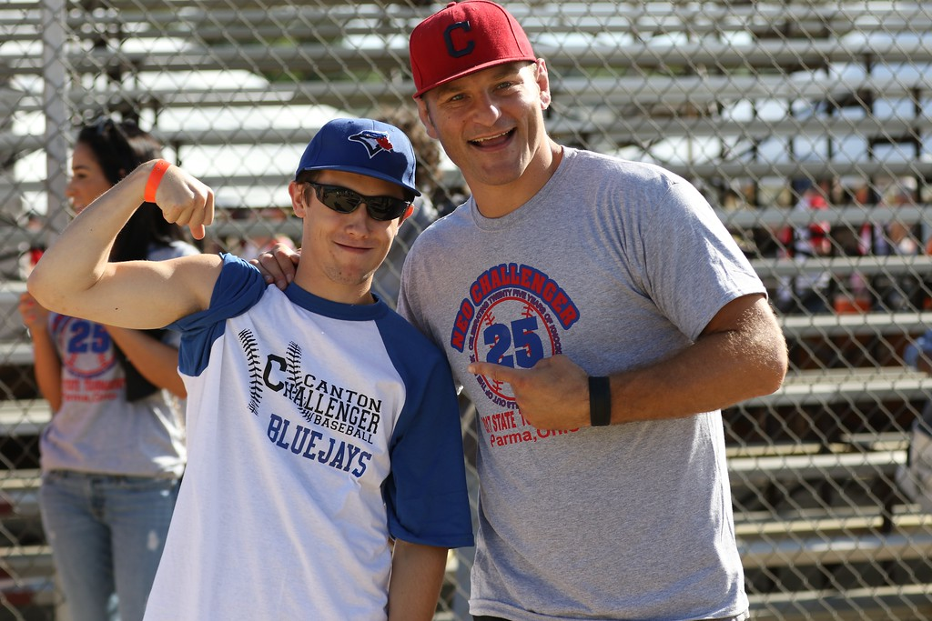 . Tim Phillis - The News-Herald UFC heavyweight champion Stipe Miocic was on hand to throw out the ceremonial first pitch at the Little League Challenger Division on July 29, 2017, in Parma.