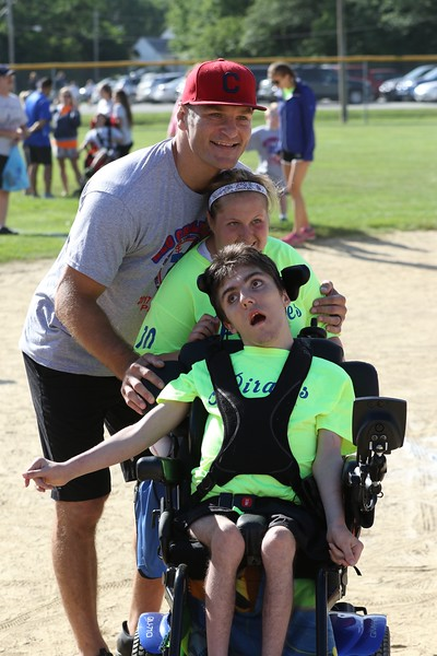 Tim Phillis - The News-Herald<br /> UFC heavyweight champion Stipe Miocic was on hand to throw out the ceremonial first pitch at the Little League Challenger Division on July 29, 2017, in Parma.