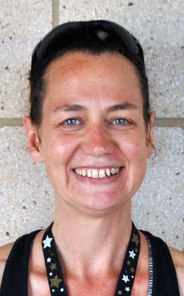 Jon Behm - The Morning Journal<br> Women's 40-44 age group winner, Pam Bahm.