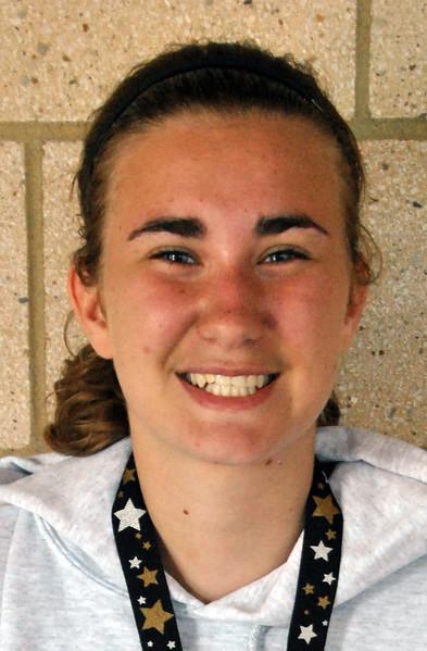 Jon Behm - The Morning Journal<br> Women's third overall finisher, Rachel Landis.