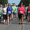 Randy Meyers - The Morning Journal<br> Journal Jog 3k walkers are off at the start from the Black River Landing in Lorain on July 30.