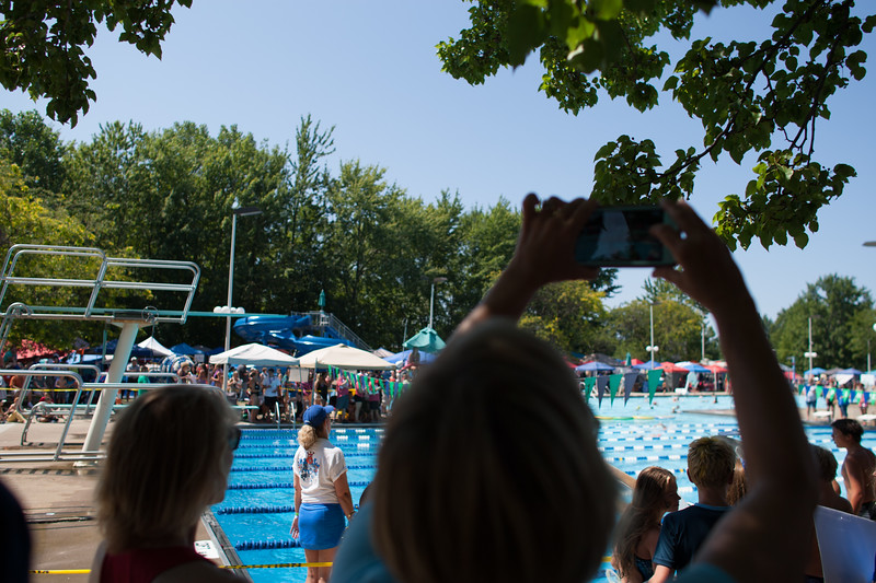 Michael Johnson - The News-Herald<br /> A parent takes video at the Suburban Swim League Championships at Mentor Civic Center pool on July 30, 2017.
