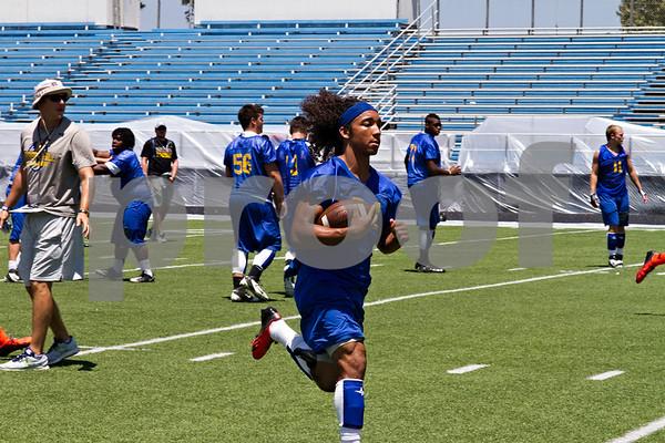 Photo by Shannon Wilson / Tyler Morning Telegraph Chapel Hill's Joseph Clark (24) runs the ball during practice on Monday.