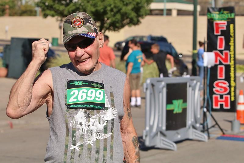 Eddie Hendershot finishes Sundays Journal Jog with a smile. (0486)