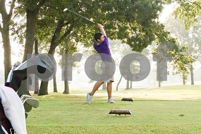 Photo by Shannon Wilson / Tyler Morning Telegraph Philip White tees off on the second tee box during the 1st Annual Junior Golf Championship at the Pine Springs Golf Club in Tyler.